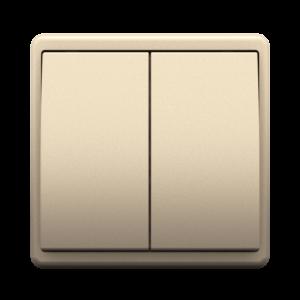 Двухклавишный выключатель - Metalized CH