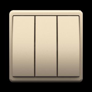 Трехклавишный выключатель - Metalized CH