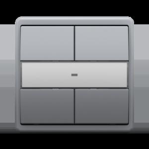 4–кнопочный модуль для систем «умный дом» - Metalized GR