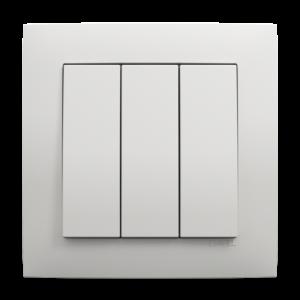 Трехклавишный выключатель - Base BR