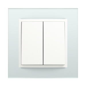 Двухклавишный выключатель  - Crystal CG
