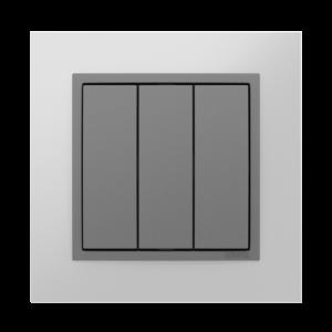 Трехклавишный выключатель  - Metallo US