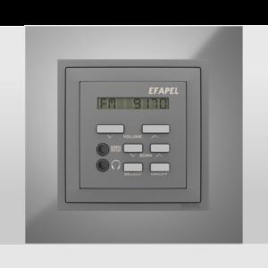 Одноканальный модуль с FM– тюнером, часами и дистанционным управлением  - Metallo RS