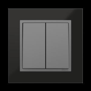 Двухклавишный выключатель  - Metallo QS