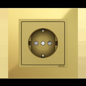Розетка с защитными шторками  - Metallo OU