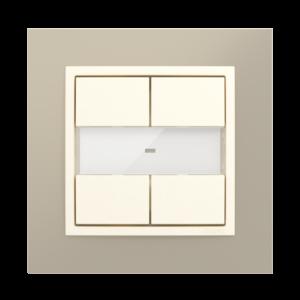 4–кнопочный модуль для систем «умный дом»  - Metallo TP