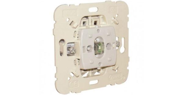 Механизм одноклавишного выключателя двухполюсный с сигнальной лампой  1