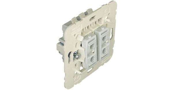 Механизм  двухклавишного проходного выключателя 1