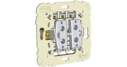 Механизм  двухклавишного проходного выключателя – 20А 1