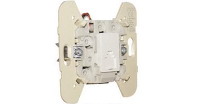 Механизм телефонной розетки (4 контакта) – белый 1