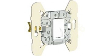 Механизм телефонной розетки (4 контакта) - серый