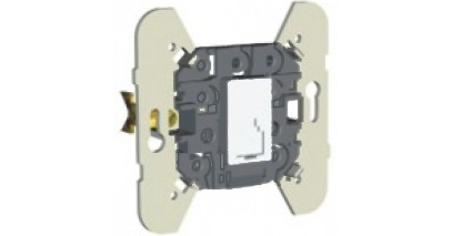 Механизм телефонной розетки (4 контакта) - черный