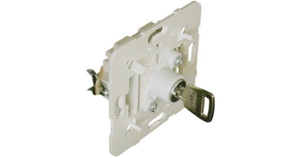 Механизм проходного выключателя с ключом 1