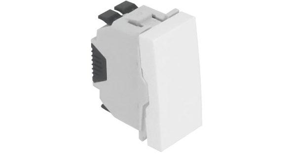 Одноклавишный выключатель – 1 модуль – белый 1