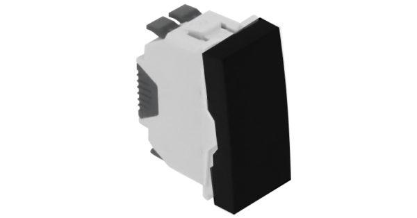 Одноклавишный выключатель – 1 модуль – черный 1