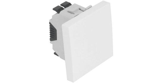 Одноклавишный выключатель – 2 модуля – белый 1