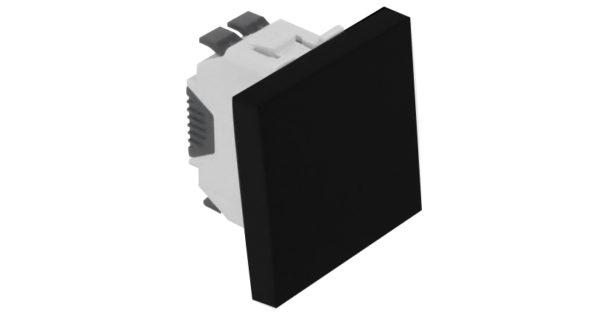 Одноклавишный выключатель – 2 модуля – черный 1
