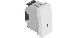 Проходной выключатель – 1 модуль с подсветкой – белый 1