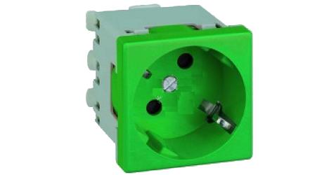 Розетка 2к+З  (45х45) – зелёная 1