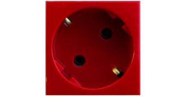 Розетка 2к+З  (45х45) – красная 1