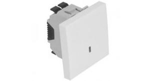 Кнопка  – 2 модуля с подсветкой (150V) – белый 1
