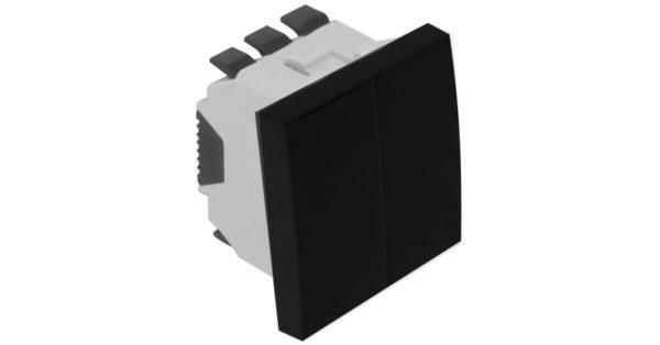 Двойная кнопка – 2 модуля – черный 1