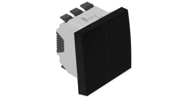 Кнопка / проходной выключатель – 2 модуля – черный 1