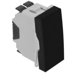 Кнопка - 1 модуль - черный