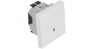 Кнопка  – 2 модуля с подсветкой (12V) – белый 1