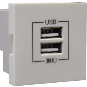 Розетка USB двойная - зарядная - лед