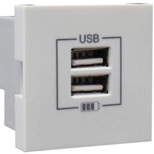 Розетка USB двойная - зарядная - графит