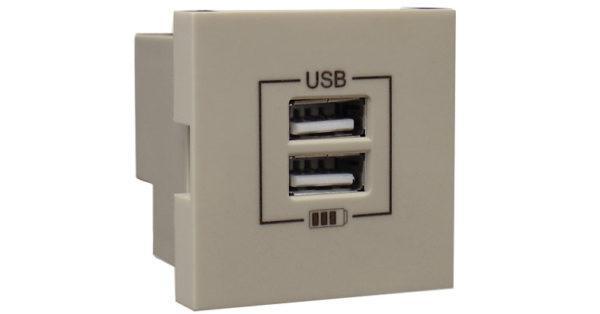 Розетка USB двойная – зарядная – жемчуг 1