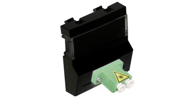 Модуль с разъемом для оптоволоконного коннектора типа 2xLC – 2 модуля – черный 1
