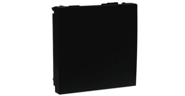Заглушка – 2 модуля – черный 1