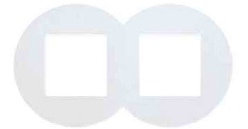 Двойная рамка – SV – белый 1