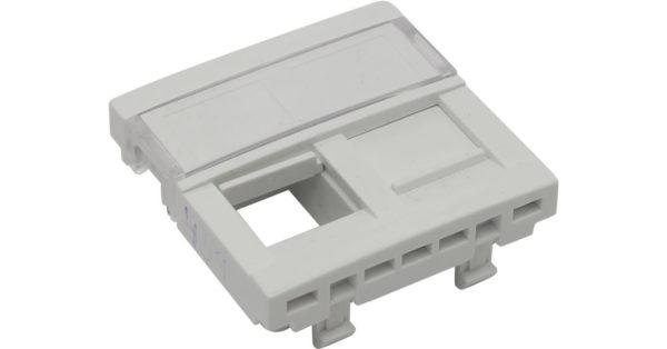 Лицевая панель 2 модуля для 2-х кейстоунов RJ – белая  1