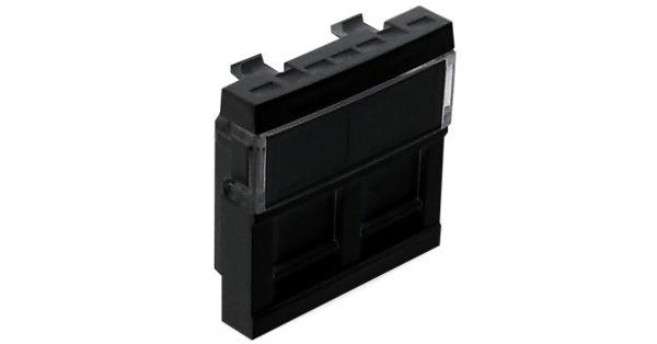 Лицевая панель 2 модуля для 2-х кейстоунов RJ – черный 1