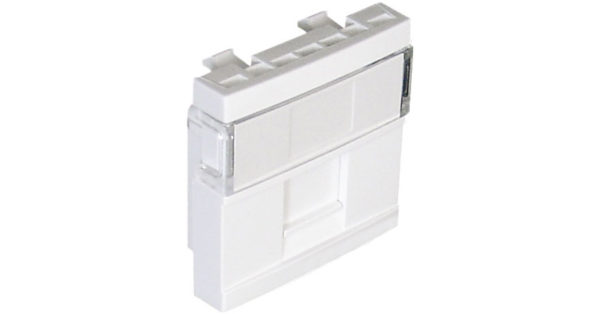 Лицевая панель 2 модуля для 1-го кейстоуна RJ – белая 1