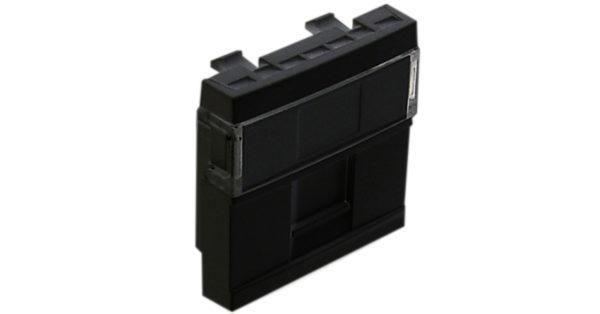 Лицевая панель 2 модуля для 1-го кейстоуна RJ – черный 1