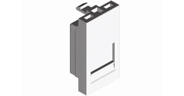 Лицевая панель 1 модуль для 1-го кейстоуна RJ – белый 1