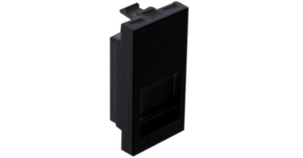 Лицевая панель 1 модуль для 1-го кейстоуна RJ – черный 1