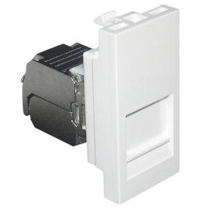 Адаптер с RJ-45 кат.5e FTP 1 модуль - белый