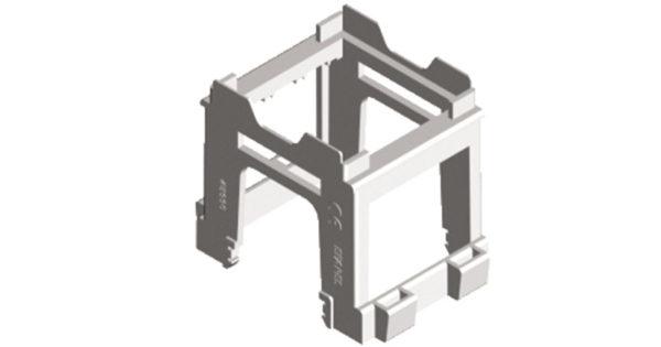 Адаптер для установки модулей 45х45 на DIN-рейку 1
