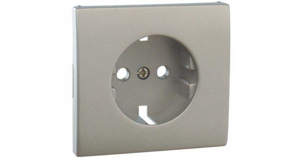 Лицевая панель Apolo 5000 для розетки 2к+З – серебро 1