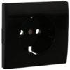 Лицевая панель Apolo 5000 для розетки 2к+З - чёрная