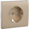 Лицевая панель Apolo 5000 для розетки 2к+З с защитными шторками - платина