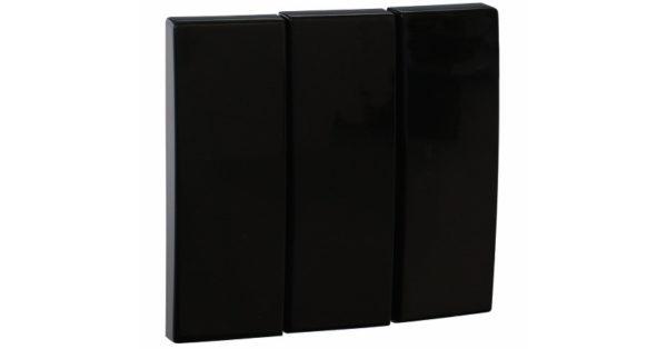 Клавиша выключателя тройная Apolo 5000 – чёрный  1