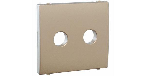Лицавая панель Apolo 5000 для акустической розетки  – платина 1
