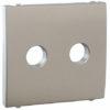 Лицавая панель Apolo 5000 для акустической розетки  - серебро