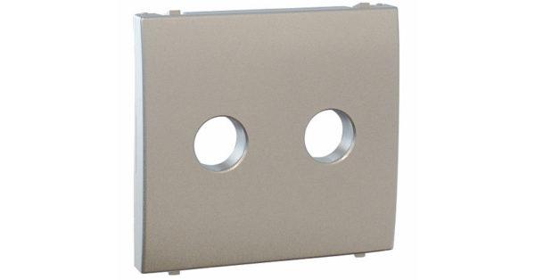 Лицавая панель Apolo 5000 для акустической розетки  – серебро 1